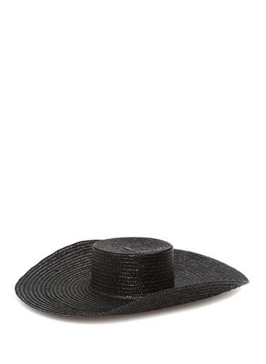 Kate Cate Kate Cate  Yıldız Troklu Kadın Hasır Şapka 101418603 Siyah